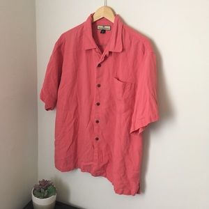 Salmon pink Tommy bahama Button Up Shirt